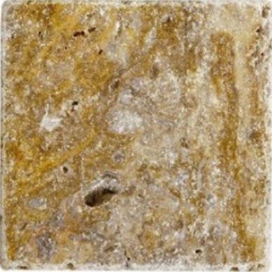 brown, tan, white marble Scabos Travertine Tumbled Marble Tile