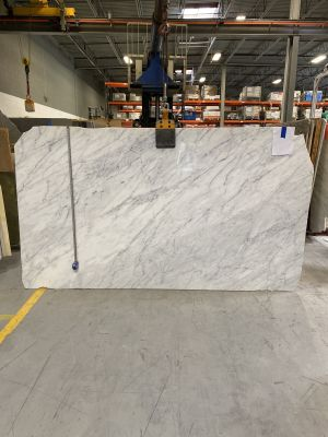 gray, white marble Statuarietto Polished
