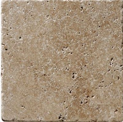 brown, tan, white marble Noche Travertine Tumbled Marble Tiles
