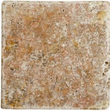 brown, orange, white marble Scabos Travertine Tumbled Marble Tiles