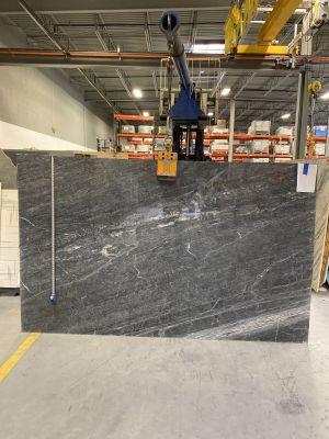 black, gray, white marble Blu Massaccio Marble