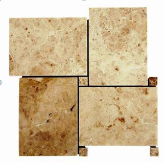 brown, tan marble Bahamas Light Mosaic Marble Tiles
