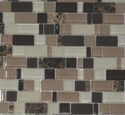 brown, tan, beige, pink glass Mauve Brick