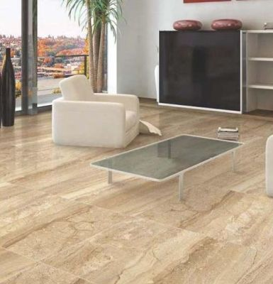 tan, beige porcelain Breccia Beige 24x24 Polished