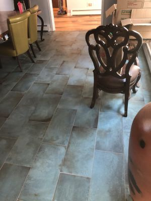 green porcelain Mint floor tile