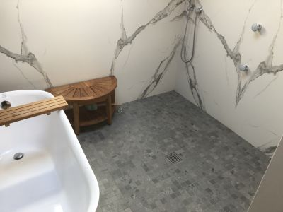 gray porcelain 2 inch slate look