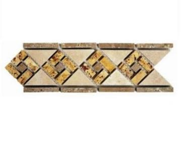 brown, orange, tan stone Niagra Listello Classic Light Sharp Cut Border Stone Wall Tile