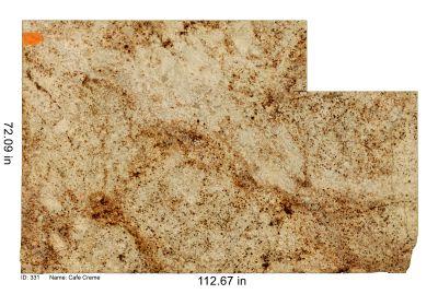 brown, orange, tan, white, beige granite Cafe Cream
