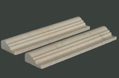 tan, white marble Crema Double Ogee Molding Marble Tiles