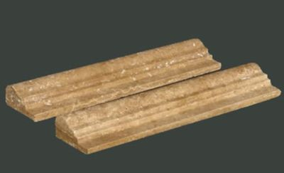 brown, tan, yellow marble Noche Double Ogee Molding Mable Tiles