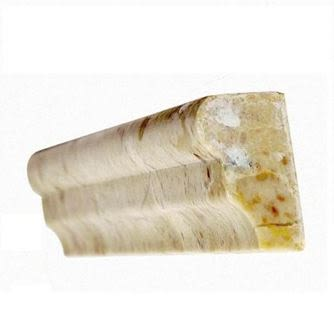 "tan, white marble Cappuccino Rail Molding Marble Tiles 1"" Thick"