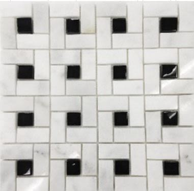black, gray, white stone Spiral Silver Travertine Tumbled Marble Tiles