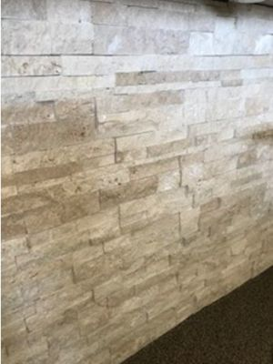 brown, tan, whiteSplit Face Ivory Travertine Brick Mosaic Marble Wall Tiles