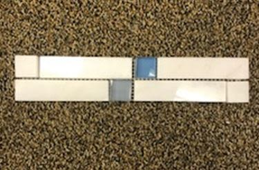 black, blue, gray, white marble Yukon White Carrara Border with 1x1 Black Insert Marble Border  Tile