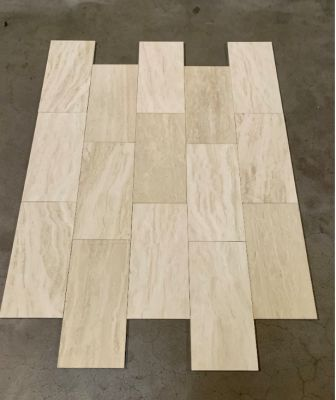 tan travertine Beige Vein Cut Honed & Filled Travertine Stone 8''x16''x3/8'' Flooring Tile