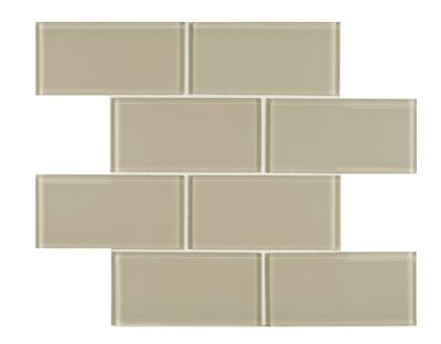 tan glass Cashew Glossy by arizona tile