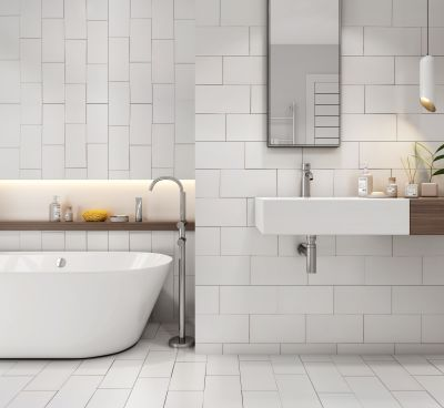 white ceramic Courtney White by tile and marble liquidators