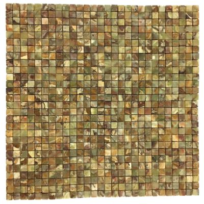 "green onyx Multi Green Onyx 3/4"" x 3/4"" Mosaic Tiles (Tumbled)  by mosaic tile center"