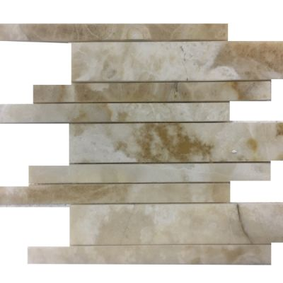 onyx Turkish Creama Onyx Linear Pattern Mosaic Tiles by mosaic tile center