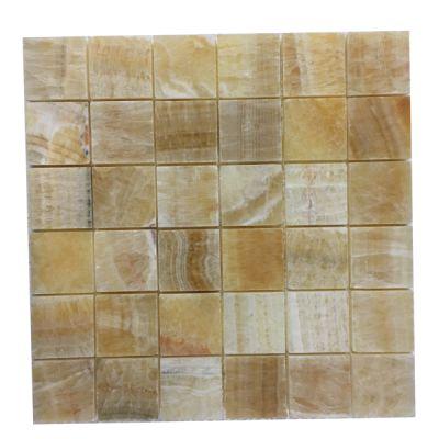 """onyx Honey Onyx 2"""" x 2"""" Mosaic Polished by mosaic tile center"""