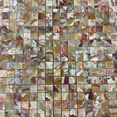"green onyx Multi Green Onyx 3/4"" x 3/4"" Mosaic Tiles (Polished)  by mosaic tile center"