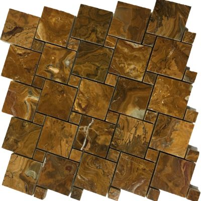 brown onyx Multi Brown Onyx Square Basket Weave Mosaic Tiles (Polished) by mosaic tile center