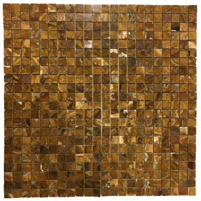 "brown onyx Multi Brown Onyx 1"" x 1"" Mosaic Tiles (Polished)  by mosaic tile center"