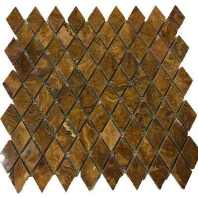 brown onyx Multi Brown Onyx Diamond Mosaic Tiles (Polished) by mosaic tile center