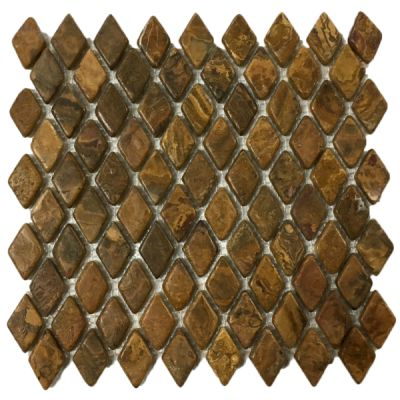 brown onyx Multi Brown Onyx Diamond Mosaic Tiles (Tumbled) by mosaic tile center
