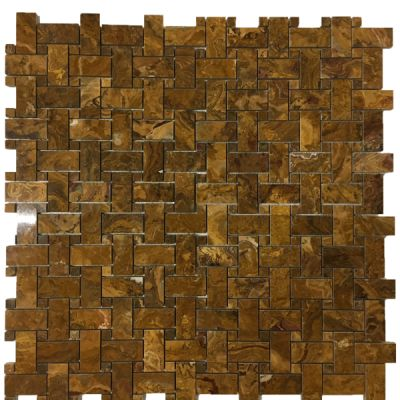 brown onyx Multi Brown Onyx Basket Weave Mosaic Tiles (Polished) by mosaic tile center