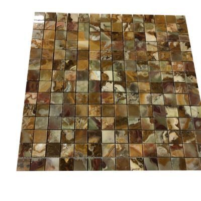 "onyx Multi Color Onyx 3/4"" x 3/4"" Mosaic Tiles (Polished) by mosaic tile center"