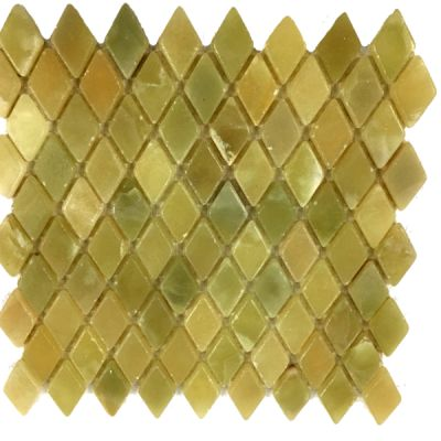 green onyx Classic Dark Green Onyx Diamond Mosaic Tiles (Tumbled) by mosaic tile center