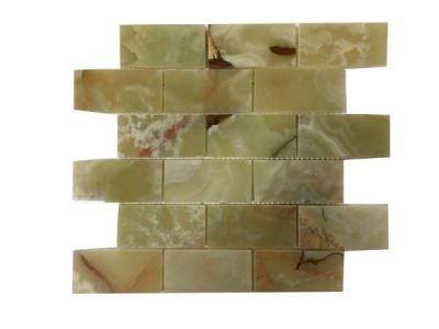 "onyx Classic Light Green Onyx 2"" x 4"" Mosaic Tiles (Polished)  by mosaic tile center"