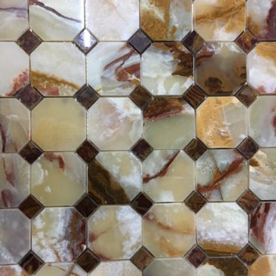 green onyx Light Green Onyx Octagon (Dark Shade) Mosaic Tiles (Polished) by mosaic tile center