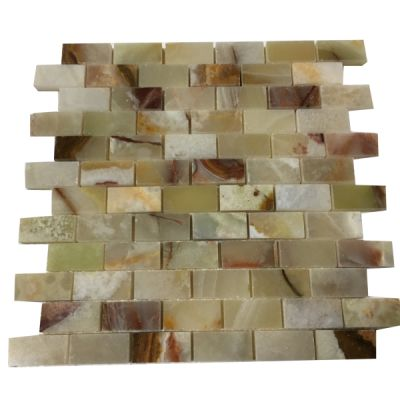 "green onyx Light Green Onyx 1""x 2"" Mosaic Tiles (Polished) by mosaic tile center"