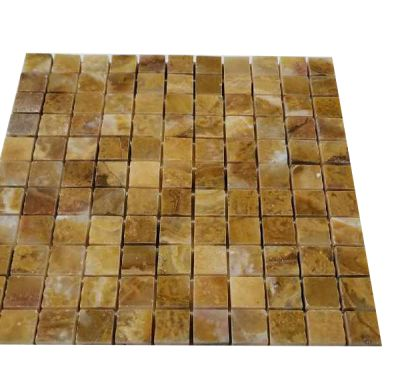 "yellow onyx Yellow Onyx 1"" x 1"" Mosaic Tiles (Polished)  by mosaic tile center"