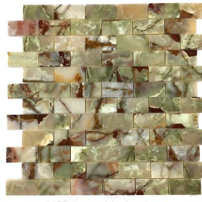 "green onyx Multi Green Onyx 2"" x 4"" Mosaic Tiles (Polished) by mosaic tile center"