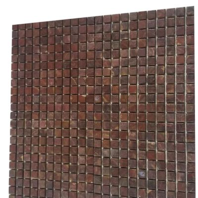"red onyx Classic Red Onyx Tiles 1"" x 1"" (Tumbled) Mosaic  by mosaic tile center"