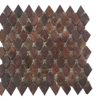red onyx Classic Red Onyx Diamond (Tumbled) Mosaic by mosaic tile center