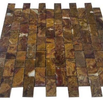 "red onyx Multi Red Onyx Tiles 2"" x 4"" Mosaic (Polished)  by mosaic tile center"