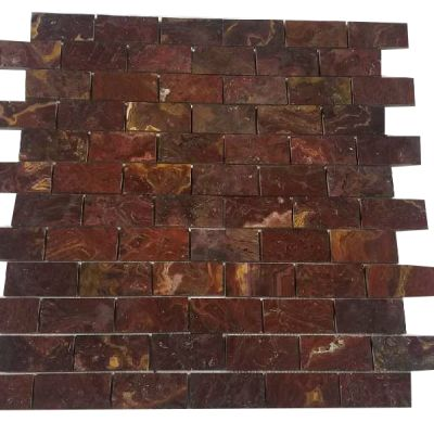 "red onyx Classic Red Onyx Tiles 2""x 4"" (Polished) Mosaic  by mosaic tile center"