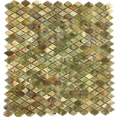 green onyx Dark Green Onyx Diamond Mosaic Tiles (Tumbled) by mosaic tile center