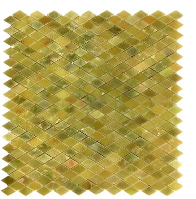 green onyx Classic Dark Green Onyx Diamond Mosaic Tiles (Polished) by mosaic tile center
