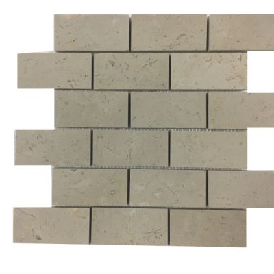 "marble Creama Frost Marble 2"" x 4"" Mosaic Tiles (Polished)  by mosaic tile center"