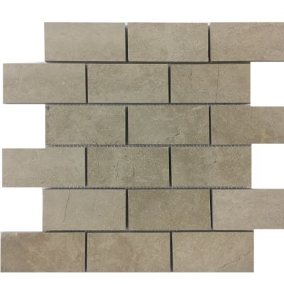 "beige marble Cream Beige Marble 2"" x 4"" Mosaic Tiles (Polished)  by mosaic tile center"