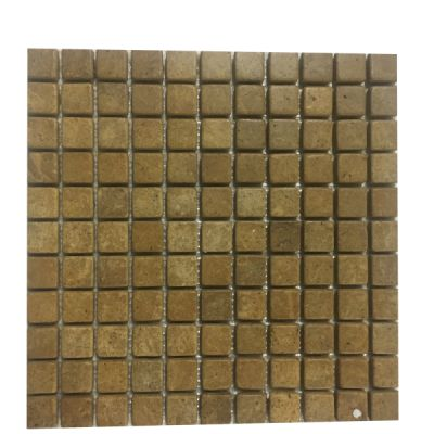 "gold marble Inca Gold Marble 1"" x 1"" Mosaic Tiles (Tumbled)  by mosaic tile center"