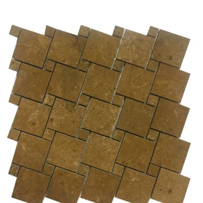 gold marble Inca Gold Marble Square Basket Weave Mosaic Tiles (Polished) by mosaic tile center