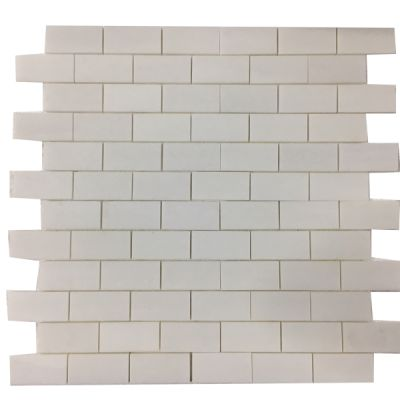 "white marble Thassos White Marble 2"" x 4"" Mosaic Polished by mosaic tile center"