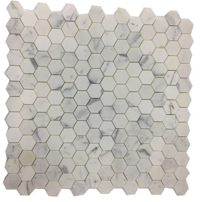 "gold marble Calacatta Gold 2"" Hexagon Mosaic (Polished)  by mosaic tile center"