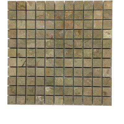 "beige marble Sahara Beige Marble 1"" x 1"" Mosaic Tiles (Polished)  by mosaic tile center"